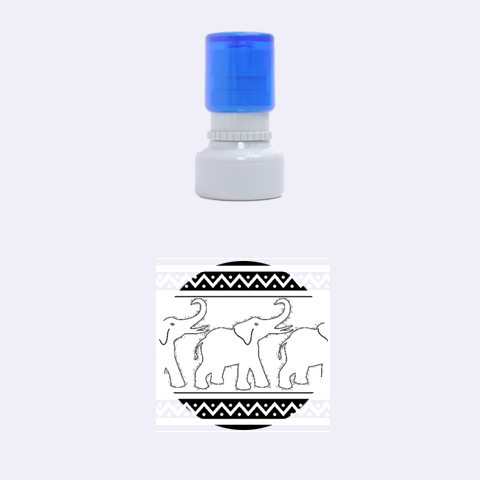 Elephant Pattern Rubber Round Stamps (Small)