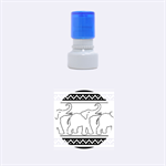 Elephant Pattern Rubber Round Stamps (Small) 1.12 x1.12  Stamp