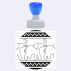 Elephant Pattern Rubber Round Stamps (Large)