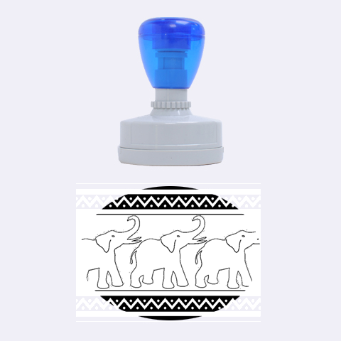 Elephant Pattern Rubber Oval Stamps