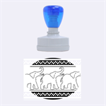 Elephant Pattern Rubber Oval Stamps 1.88 x1.37  Stamp