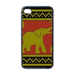 Elephant Pattern Apple iPhone 4 Case (Black)