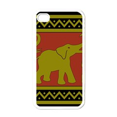 Elephant Pattern Apple iPhone 4 Case (White)