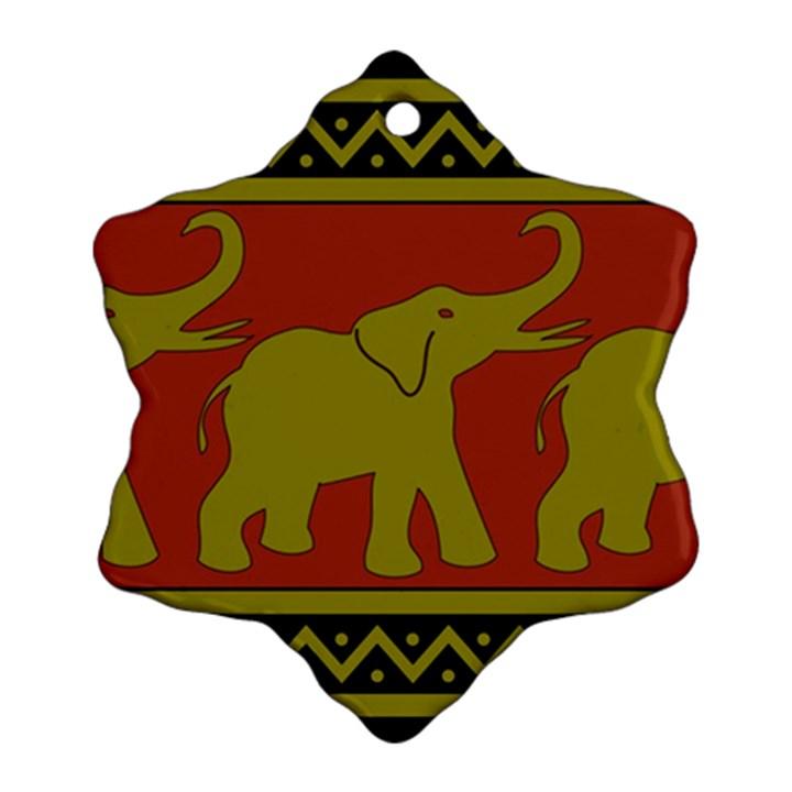 Elephant Pattern Ornament (Snowflake)