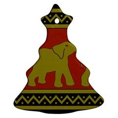 Elephant Pattern Ornament (Christmas Tree)