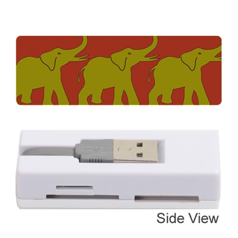 Elephant Pattern Memory Card Reader (Stick)
