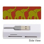 Elephant Pattern Memory Card Reader (Stick)  Front