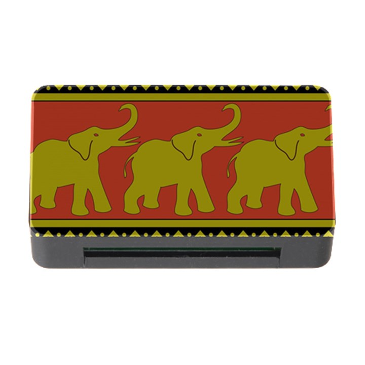 Elephant Pattern Memory Card Reader with CF