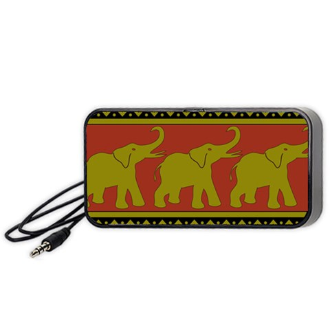 Elephant Pattern Portable Speaker (Black)
