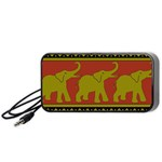 Elephant Pattern Portable Speaker (Black)  Front