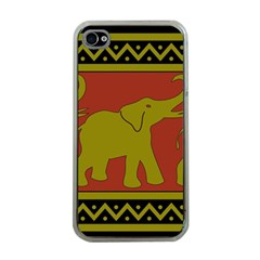 Elephant Pattern Apple iPhone 4 Case (Clear)