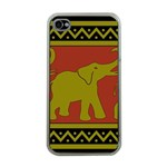 Elephant Pattern Apple iPhone 4 Case (Clear) Front