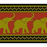 Elephant Pattern Deluxe Canvas 14  x 11  14  x 11  x 1.5  Stretched Canvas