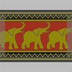 Elephant Pattern Deluxe Canvas 18  x 12   18  x 12  x 1.5  Stretched Canvas