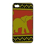 Elephant Pattern Apple iPhone 4/4s Seamless Case (Black) Front