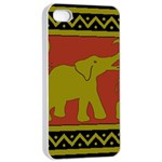 Elephant Pattern Apple iPhone 4/4s Seamless Case (White) Front