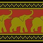 Elephant Pattern Best Friends 3D Greeting Card (8x4) Inside