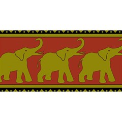 Elephant Pattern YOU ARE INVITED 3D Greeting Card (8x4)