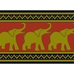Elephant Pattern Heart Bottom 3D Greeting Card (7x5) Back