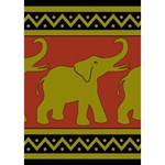 Elephant Pattern Get Well 3D Greeting Card (7x5) Inside