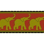Elephant Pattern Happy New Year 3D Greeting Card (8x4) Back