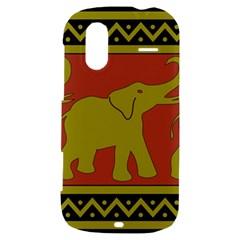 Elephant Pattern HTC Amaze 4G Hardshell Case