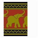 Elephant Pattern Small Garden Flag (Two Sides) Back