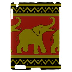 Elephant Pattern Apple iPad 2 Hardshell Case (Compatible with Smart Cover)