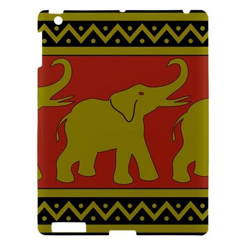 Elephant Pattern Apple iPad 3/4 Hardshell Case