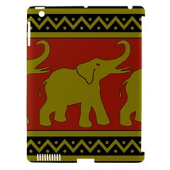 Elephant Pattern Apple iPad 3/4 Hardshell Case (Compatible with Smart Cover)