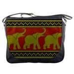 Elephant Pattern Messenger Bags Front