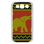 Elephant Pattern Samsung Galaxy S III Case (White) Front