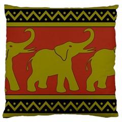 Elephant Pattern Large Cushion Case (Two Sides)