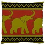 Elephant Pattern Large Cushion Case (Two Sides) Back