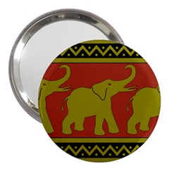 Elephant Pattern 3  Handbag Mirrors