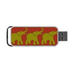 Elephant Pattern Portable USB Flash (One Side)