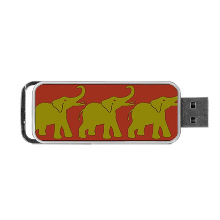 Elephant Pattern Portable USB Flash (Two Sides)