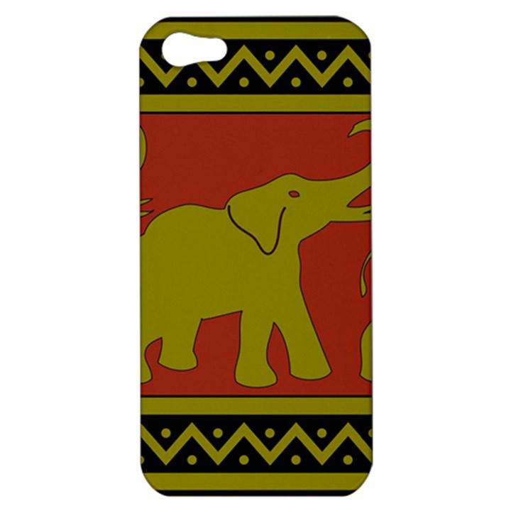 Elephant Pattern Apple iPhone 5 Hardshell Case
