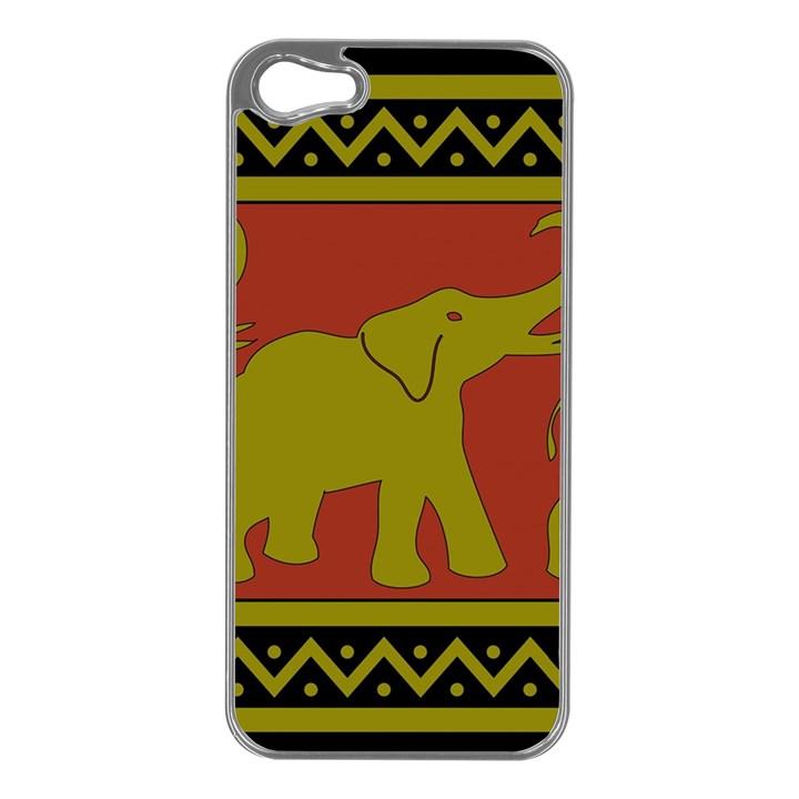 Elephant Pattern Apple iPhone 5 Case (Silver)