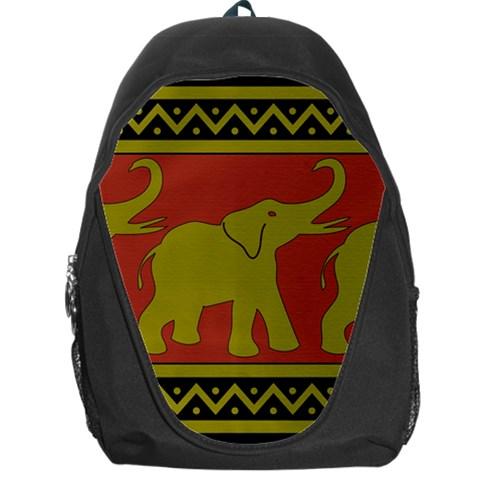 Elephant Pattern Backpack Bag