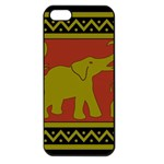 Elephant Pattern Apple iPhone 5 Seamless Case (Black) Front