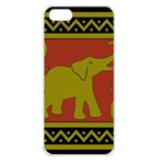 Elephant Pattern Apple iPhone 5 Seamless Case (White) Front