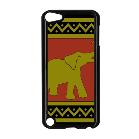 Elephant Pattern Apple iPod Touch 5 Case (Black)