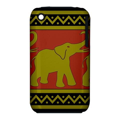 Elephant Pattern Apple iPhone 3G/3GS Hardshell Case (PC+Silicone)