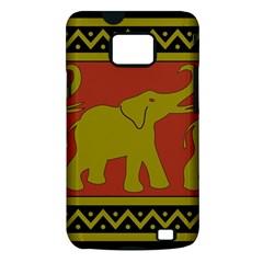 Elephant Pattern Samsung Galaxy S II i9100 Hardshell Case (PC+Silicone)