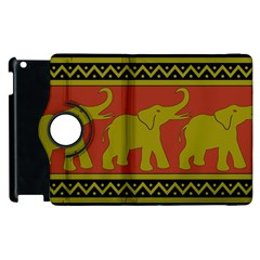 Elephant Pattern Apple iPad 3/4 Flip 360 Case