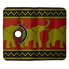 Elephant Pattern Samsung Galaxy Note II Flip 360 Case
