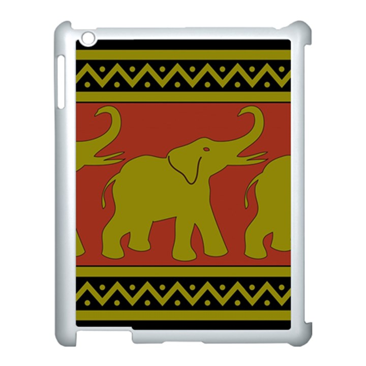 Elephant Pattern Apple iPad 3/4 Case (White)