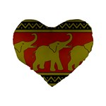 Elephant Pattern Standard 16  Premium Heart Shape Cushions Back