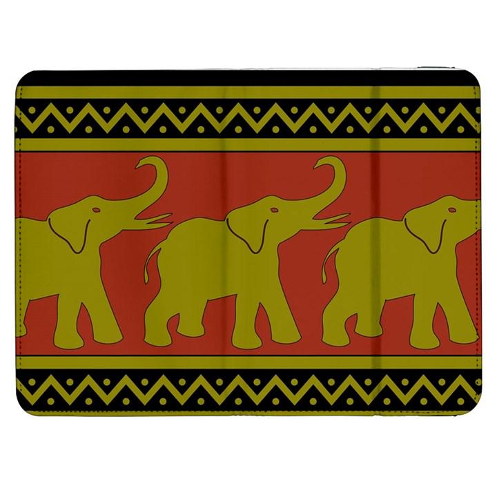 Elephant Pattern Samsung Galaxy Tab 7  P1000 Flip Case